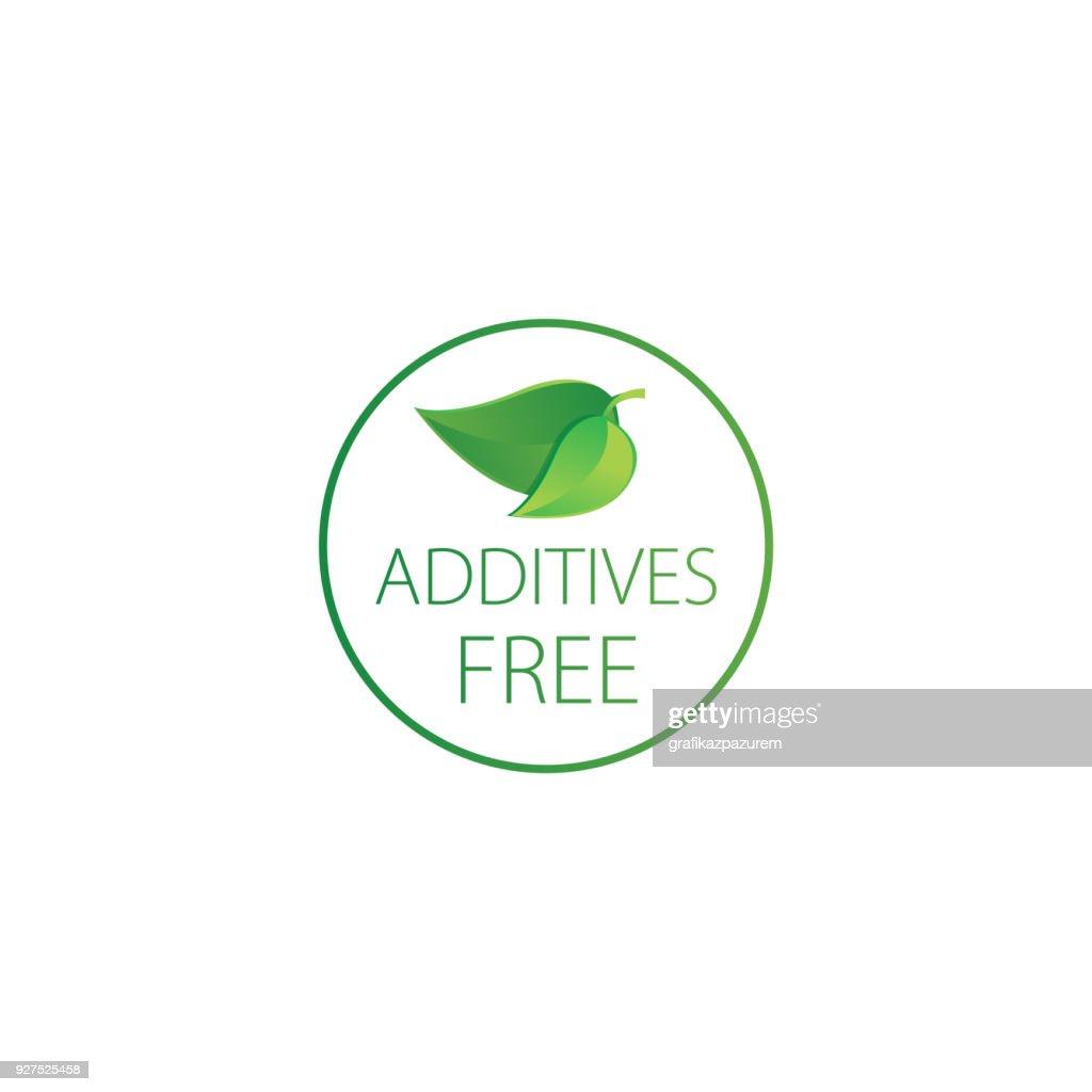 GMO, Phthalate, Additives, DYE,Paraben, SLS, Aspartame, MSG, Silicone free  - vector illustration.