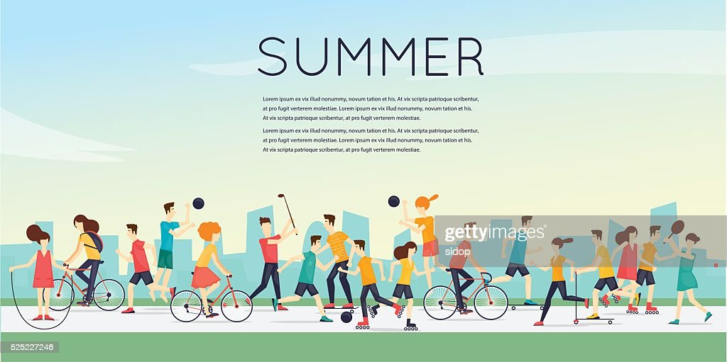 Physical activity people engaged in outdoor sports