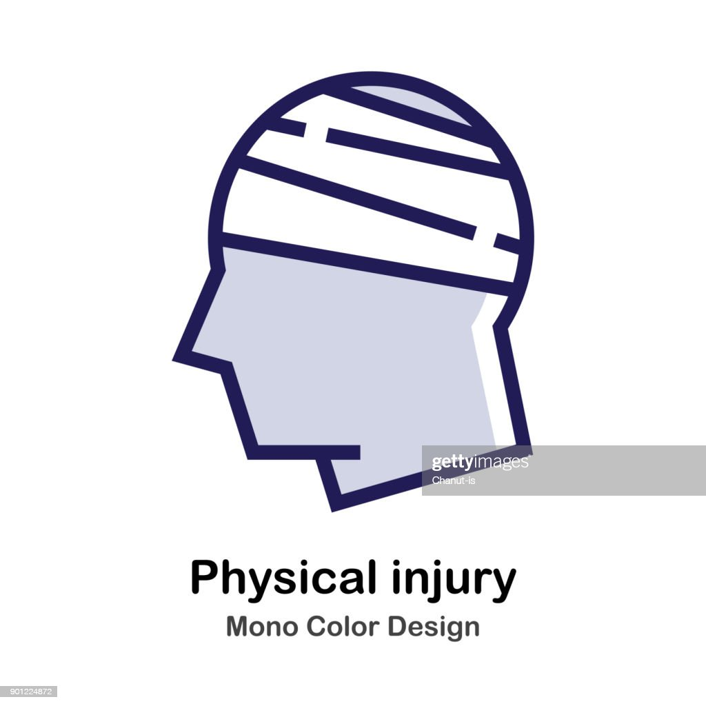Physical Injury mono color icon