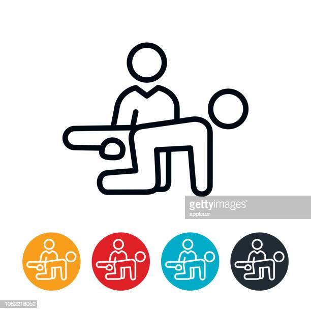physical theraphy icon - physical therapy stock illustrations, clip art, cartoons, & icons