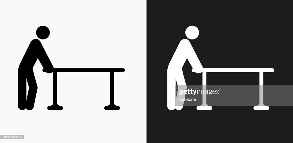 Physical Therapy Icon On Black And White Vector ...