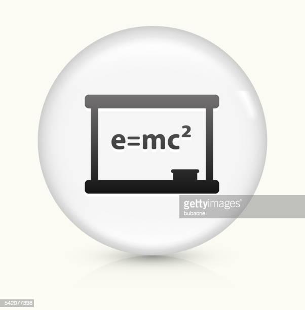 Physics Formula icon on white round vector button
