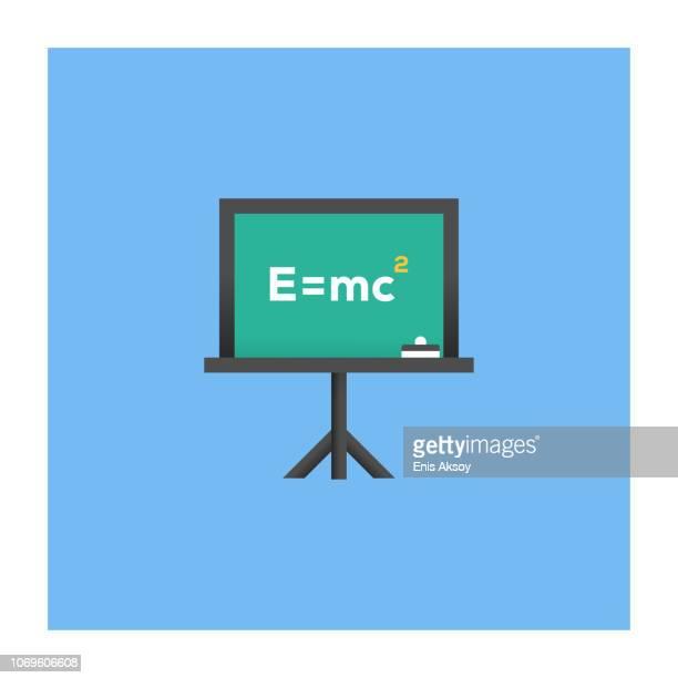 physics icon - chemical formula stock illustrations