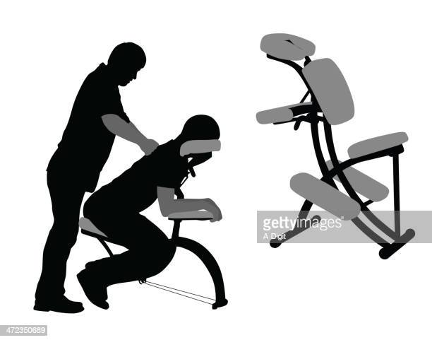 ilustrações de stock, clip art, desenhos animados e ícones de physio - massagista