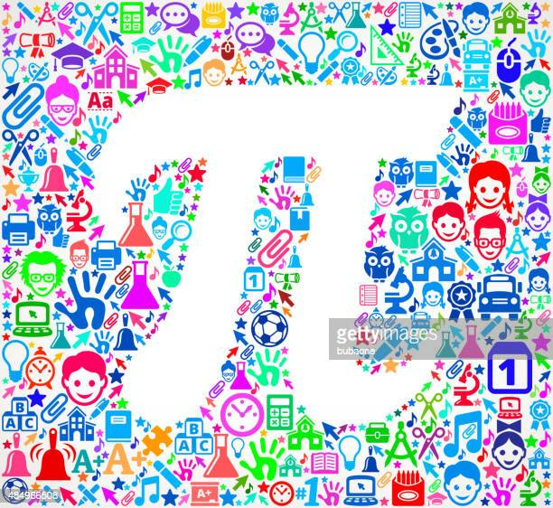 pi on school & education  icon pattern - icon collage stock illustrations