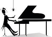 Pianist original silhouette