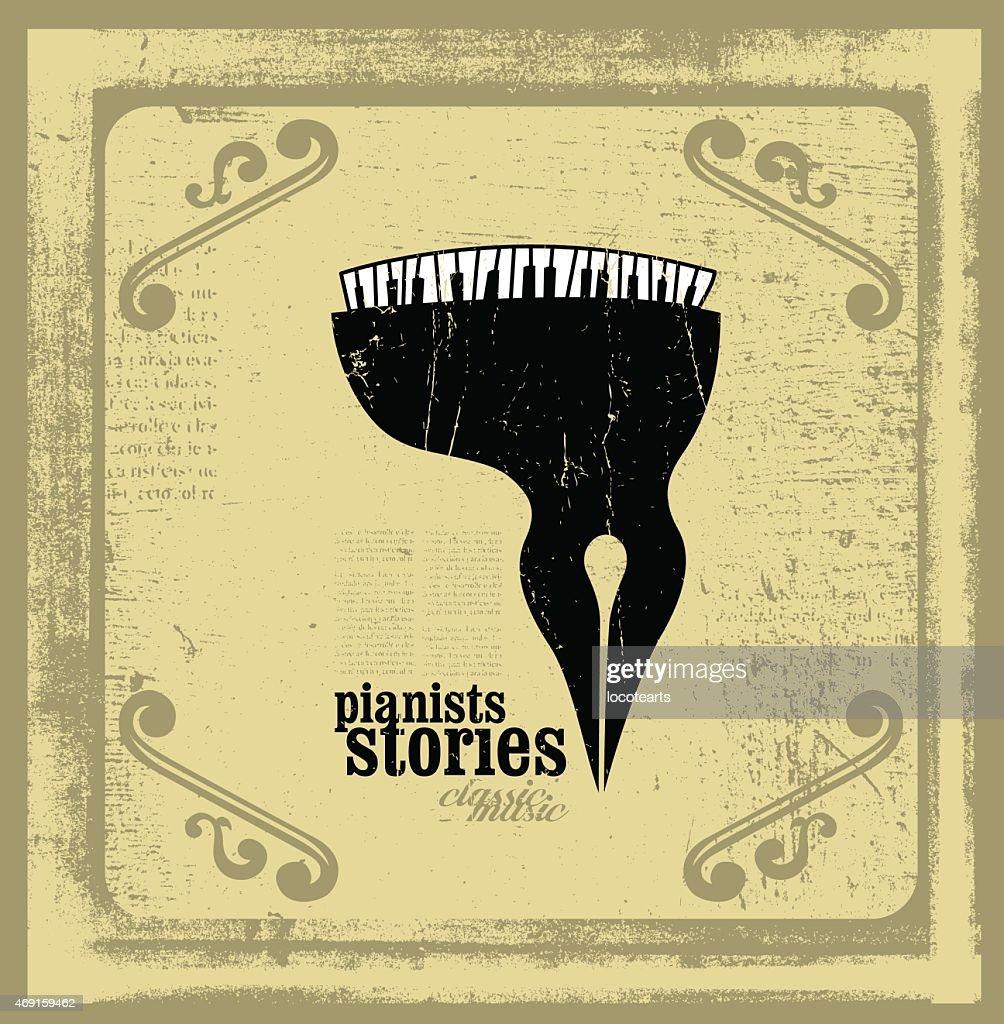 pianists stories conceptual illustration