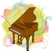 Piano and doodles