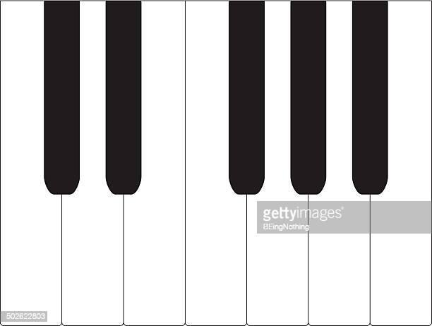 ilustraciones, imágenes clip art, dibujos animados e iconos de stock de blanco y negro piano - tecla de piano