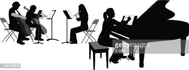 illustrations, cliparts, dessins animés et icônes de pianoflute'nstrings - pupitre à musique