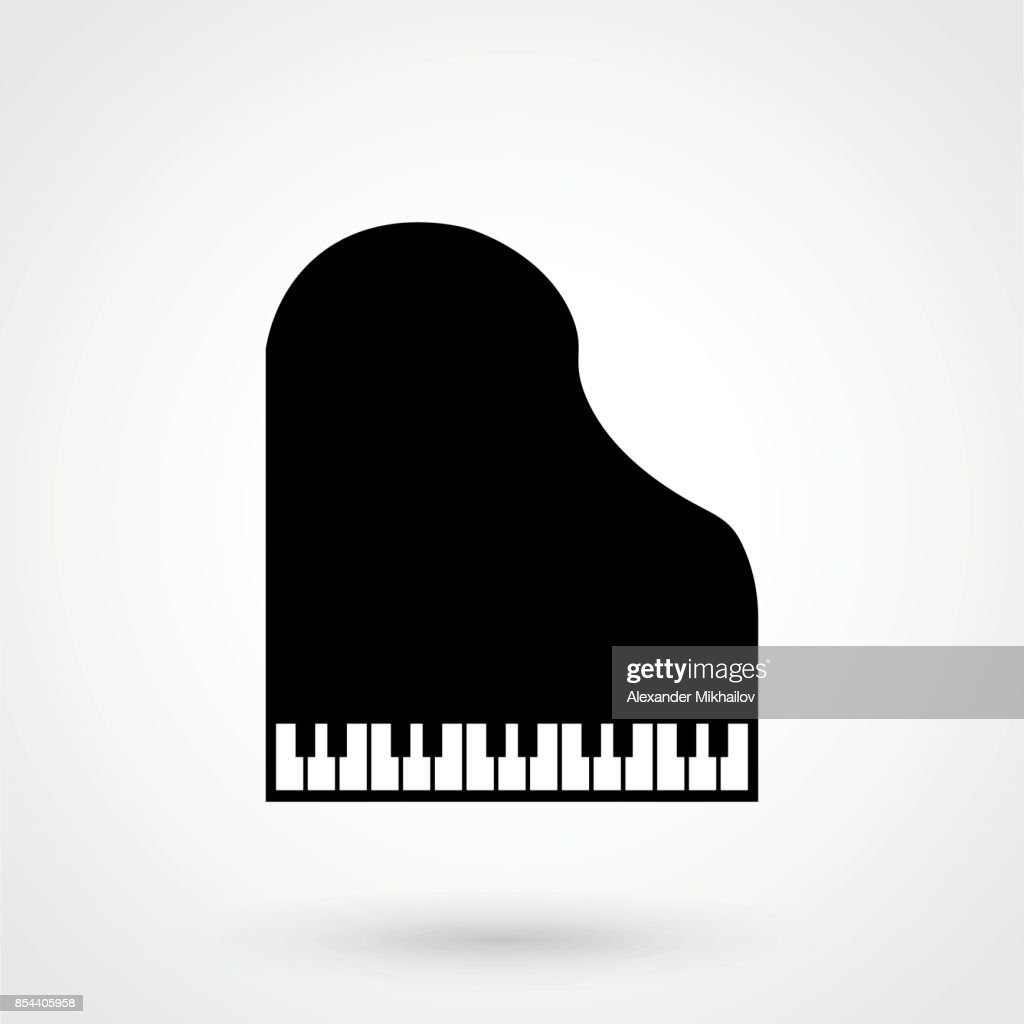 Piano Icon Isolated on White Background