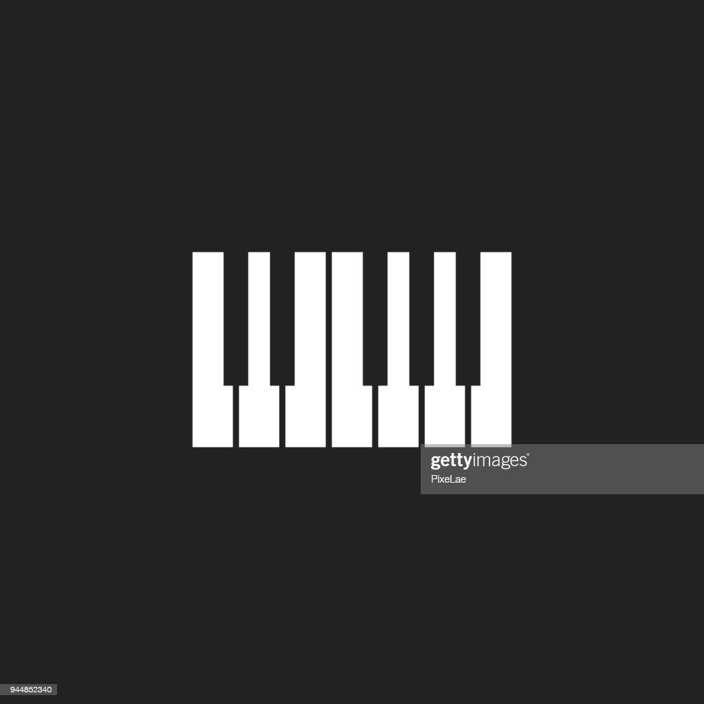 Piano keyboard icon logo.Music design template