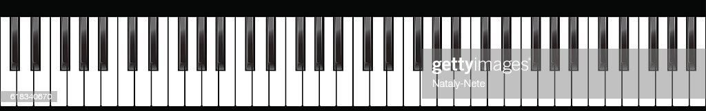 Piano keyboards set