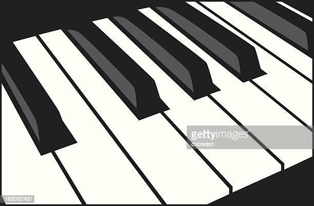 piano keys - jazz stock illustrations, clip art, cartoons, & icons