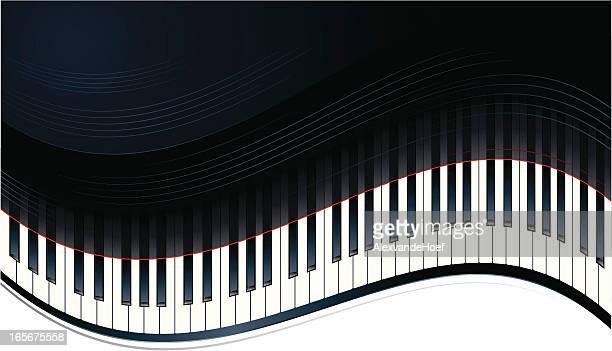 ピアノキー - ピアノの鍵盤点のイラスト素材/クリップアート素材/マンガ素材/アイコン素材
