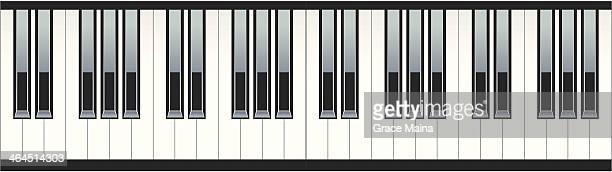 ilustraciones, imágenes clip art, dibujos animados e iconos de stock de teclas del piano-vector - tecla de piano
