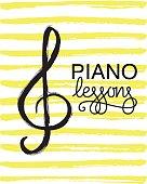 Piano lessons icon.