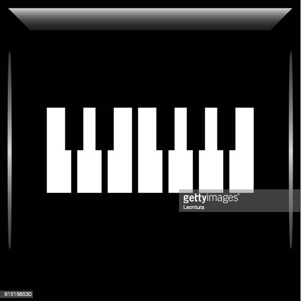 ピアノやキーボードのアイコン - ピアノの鍵盤点のイラスト素材/クリップアート素材/マンガ素材/アイコン素材