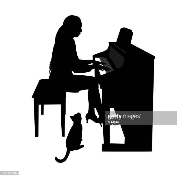 Piano Practice With Pets