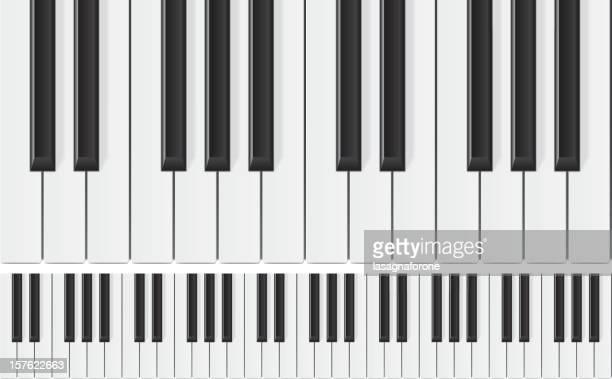 ピアノシームレスな - ピアノの鍵盤点のイラスト素材/クリップアート素材/マンガ素材/アイコン素材