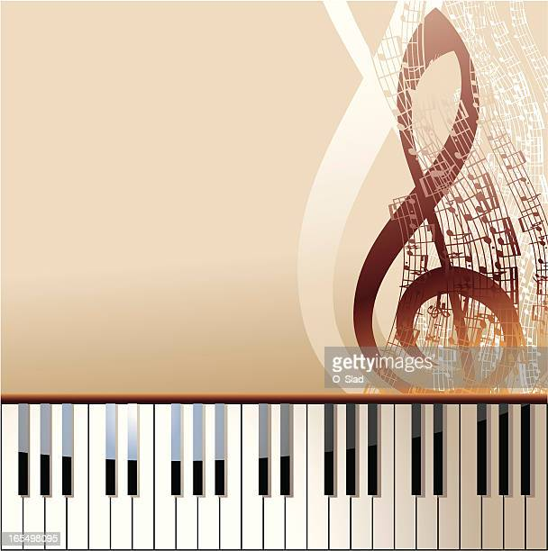 piano - treble clef stock illustrations, clip art, cartoons, & icons