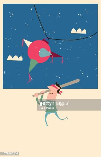 piñata - pinata stock illustrations