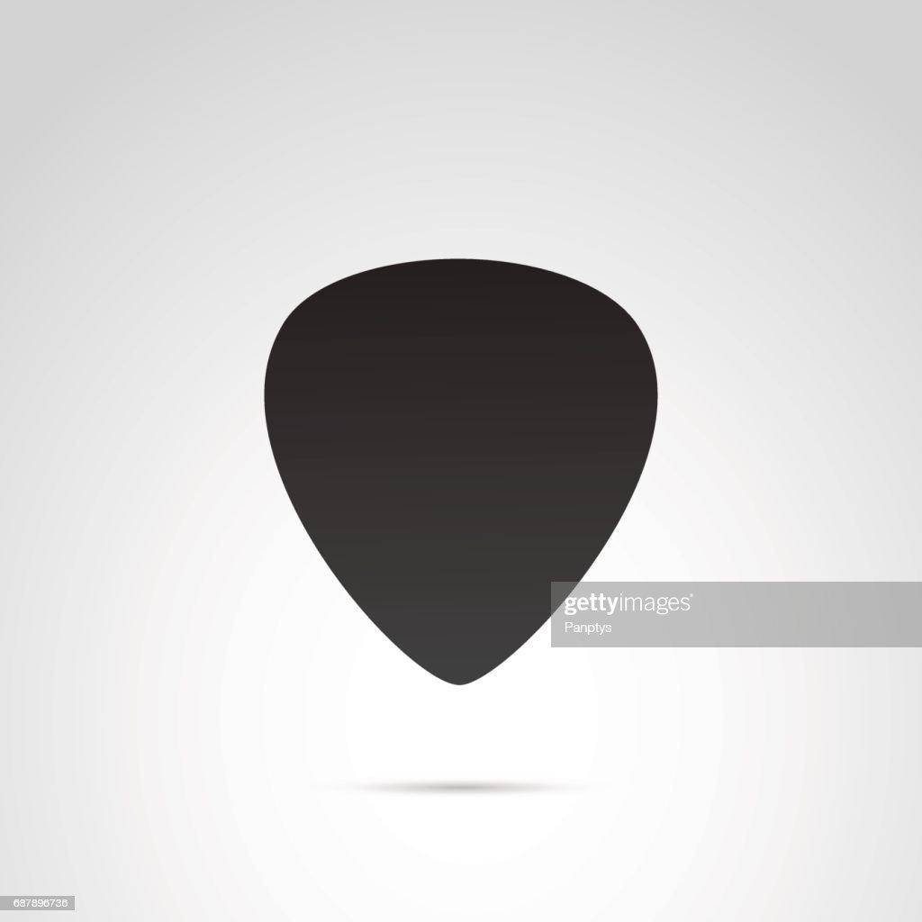 Pick guitar icon on white background.