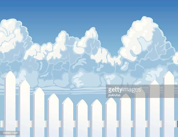 Picket Fence Cloud Sky
