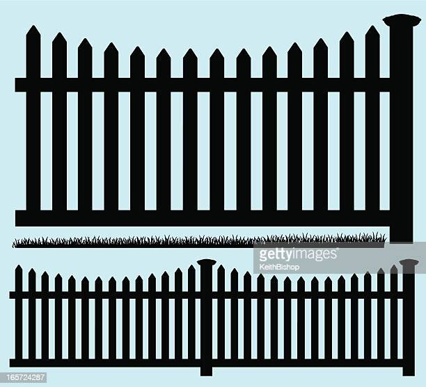 Picket Fence Silhouette and Grass