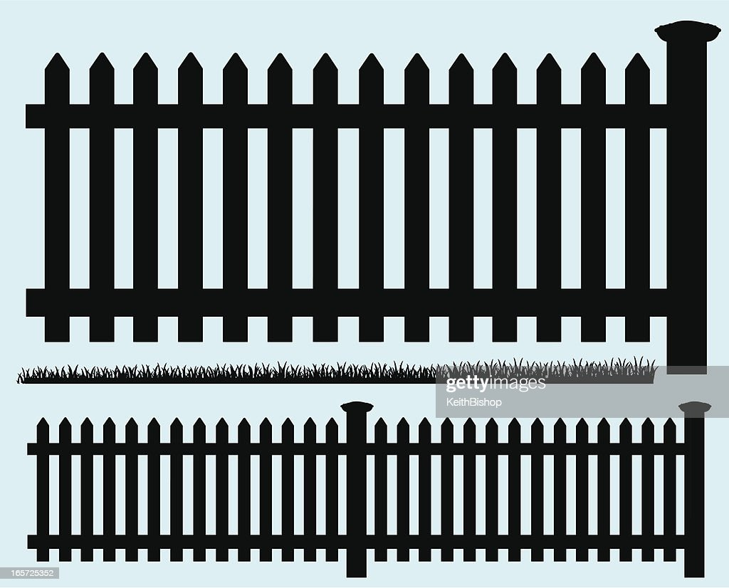 Picket Fence - Silhouette and Grass
