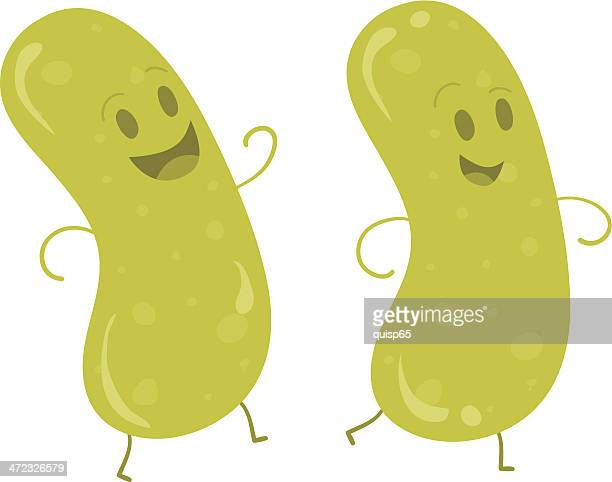 pickle parade - pickled stock illustrations