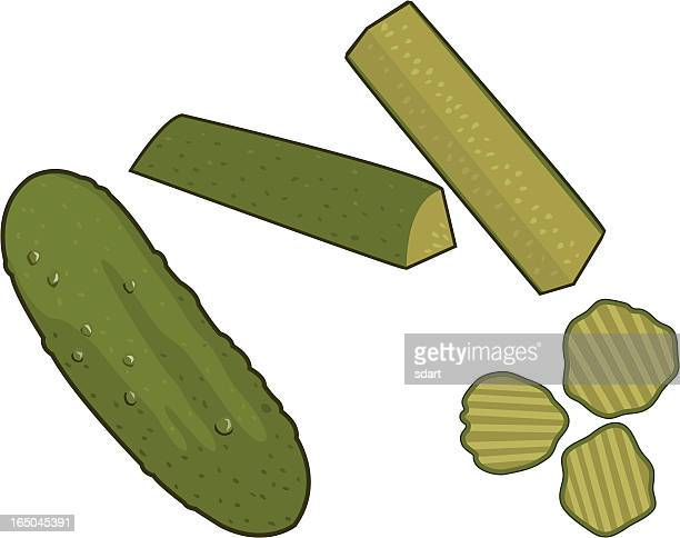 pickles - pickled stock illustrations