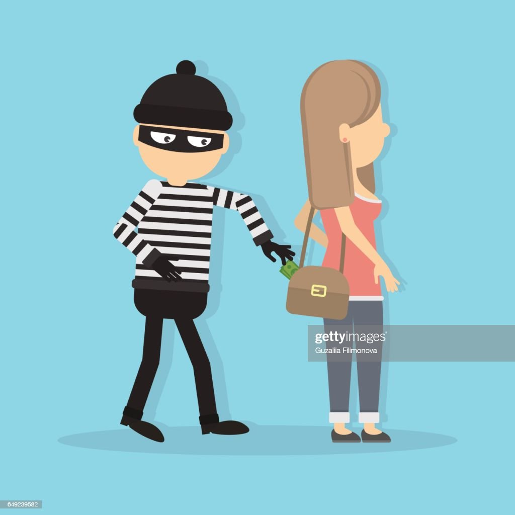 Pickpocket steals money from girl.
