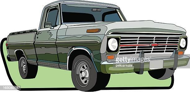 pickup, 1969 - 1969 stock illustrations