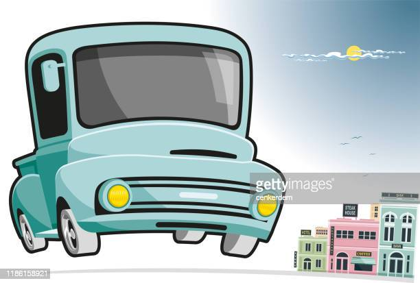 pickup and city - car ownership stock illustrations, clip art, cartoons, & icons