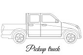 Pickup track car body type outline
