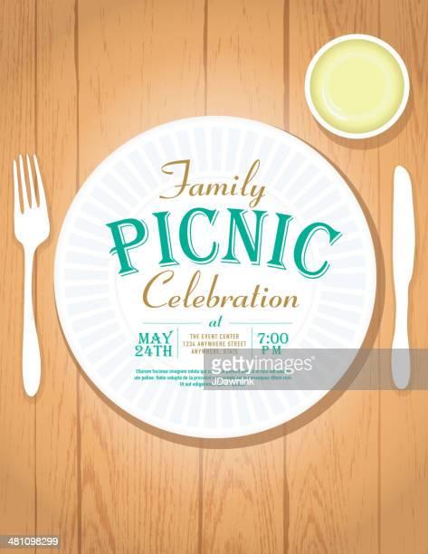 ピクニック招待状のデザインテンプレート - ポットラック点のイラスト素材/クリップアート素材/マンガ素材/アイコン素材