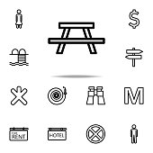 picnic place icon. Navigation icons universal set for web and mobile