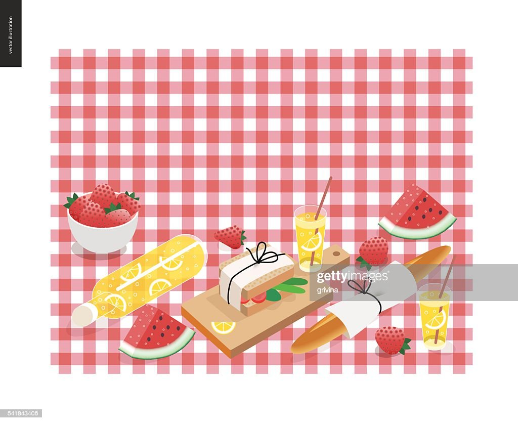 Picnic plaid and snack