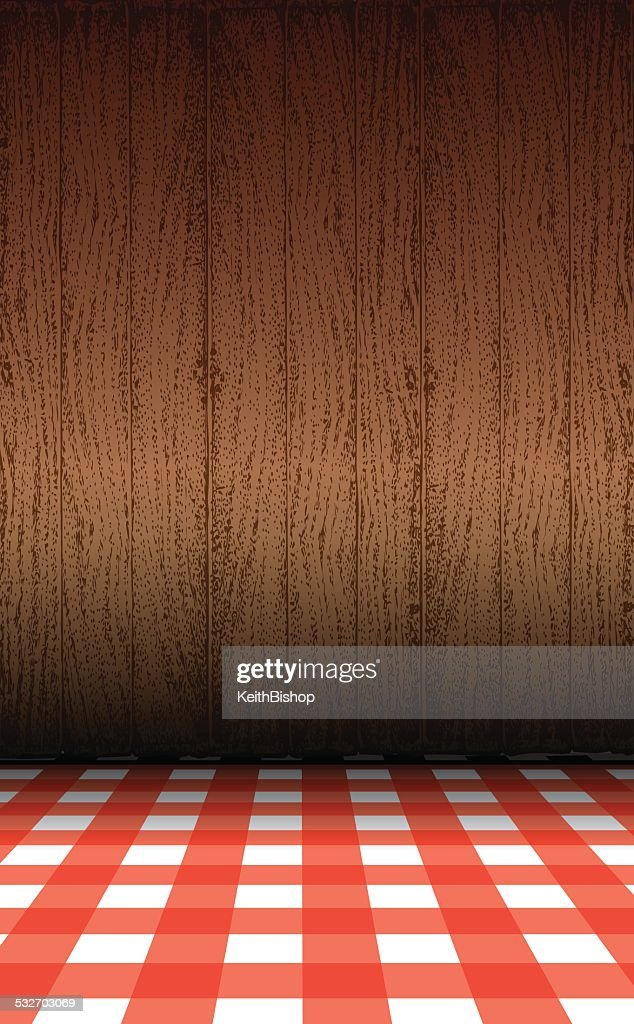 Picnic Table Wood Paneling Background