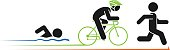 Pictogram vector illustration of triathlon