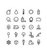 pictos, maison passive, construction, icônes, écologie, environnement