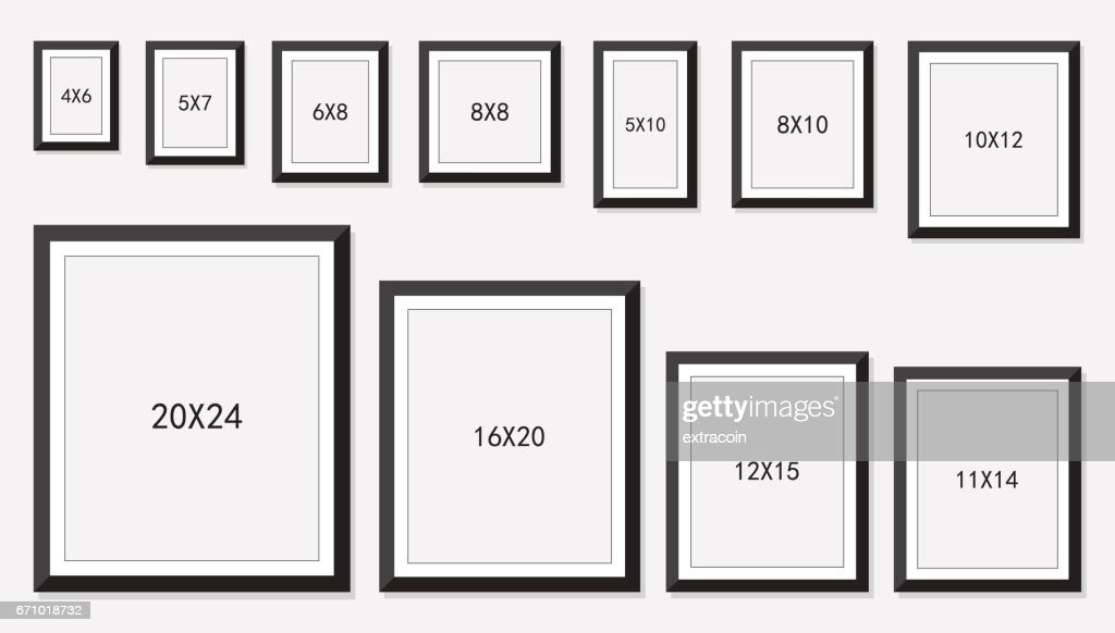 picture and photo frames size