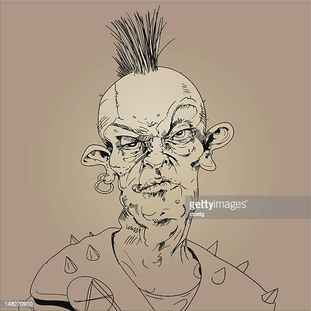 a picture depicting that punk is not dead - punk person stock illustrations, clip art, cartoons, & icons