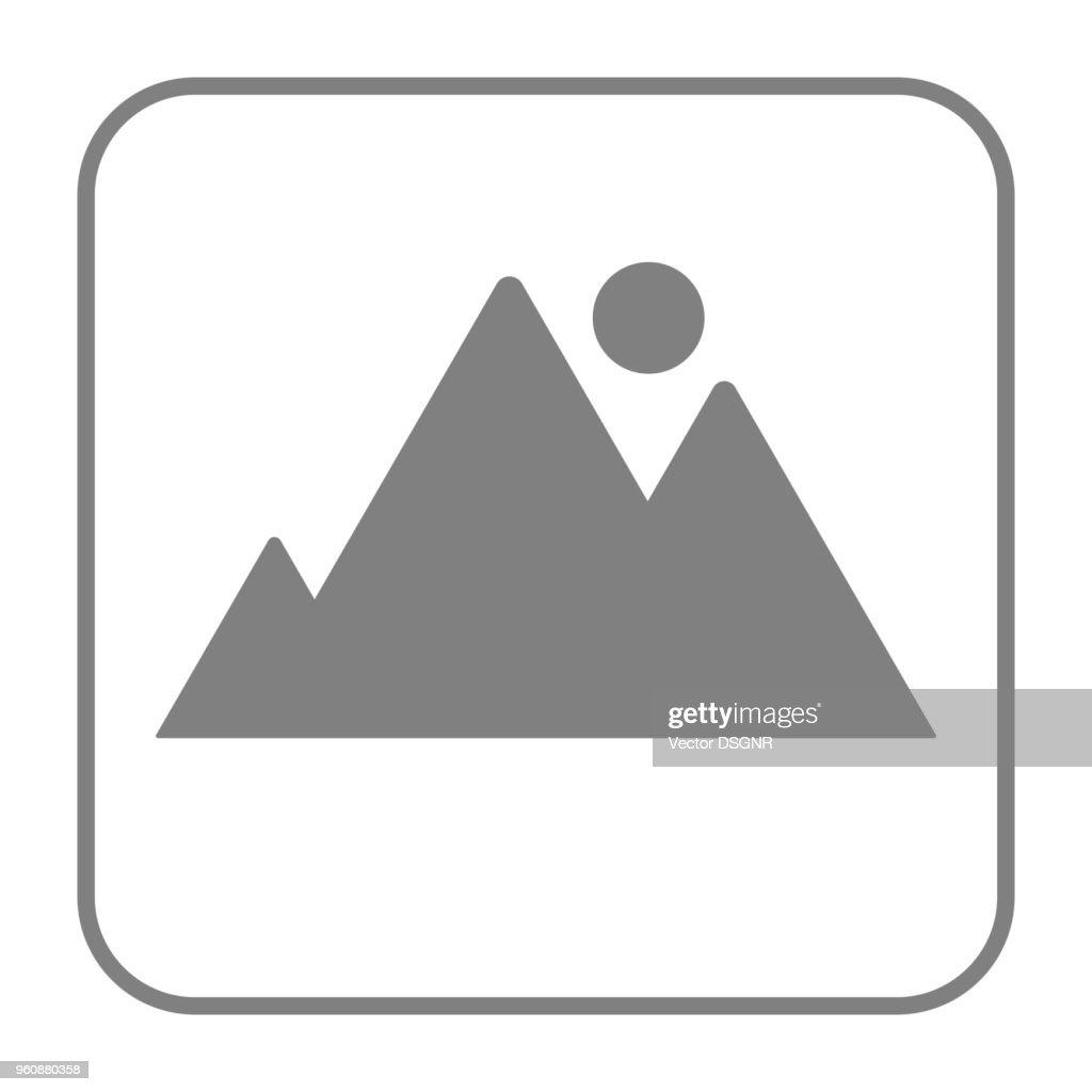 Picture icon. Gallery square button. Vector