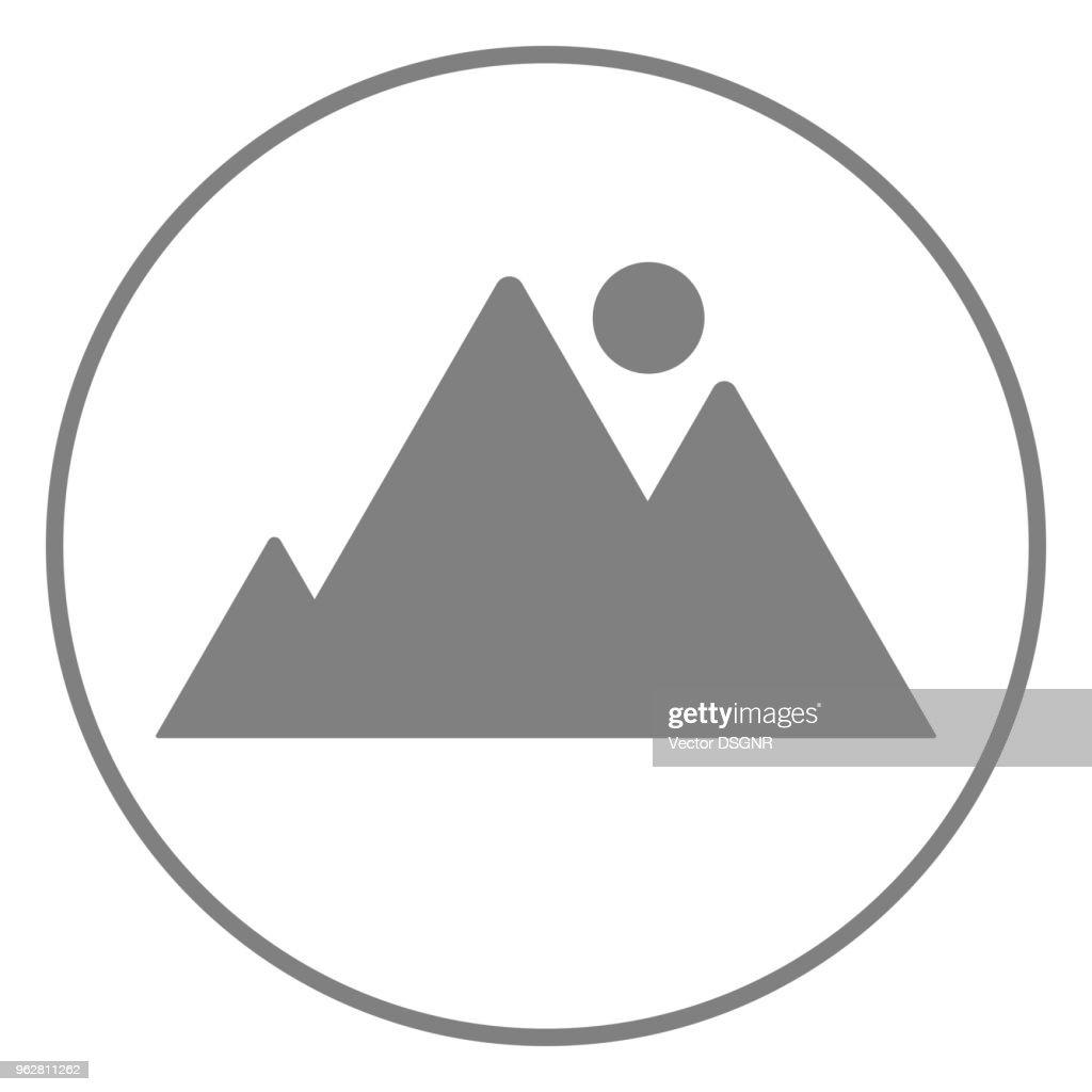 Picture icon. Graphic file icon. Vector