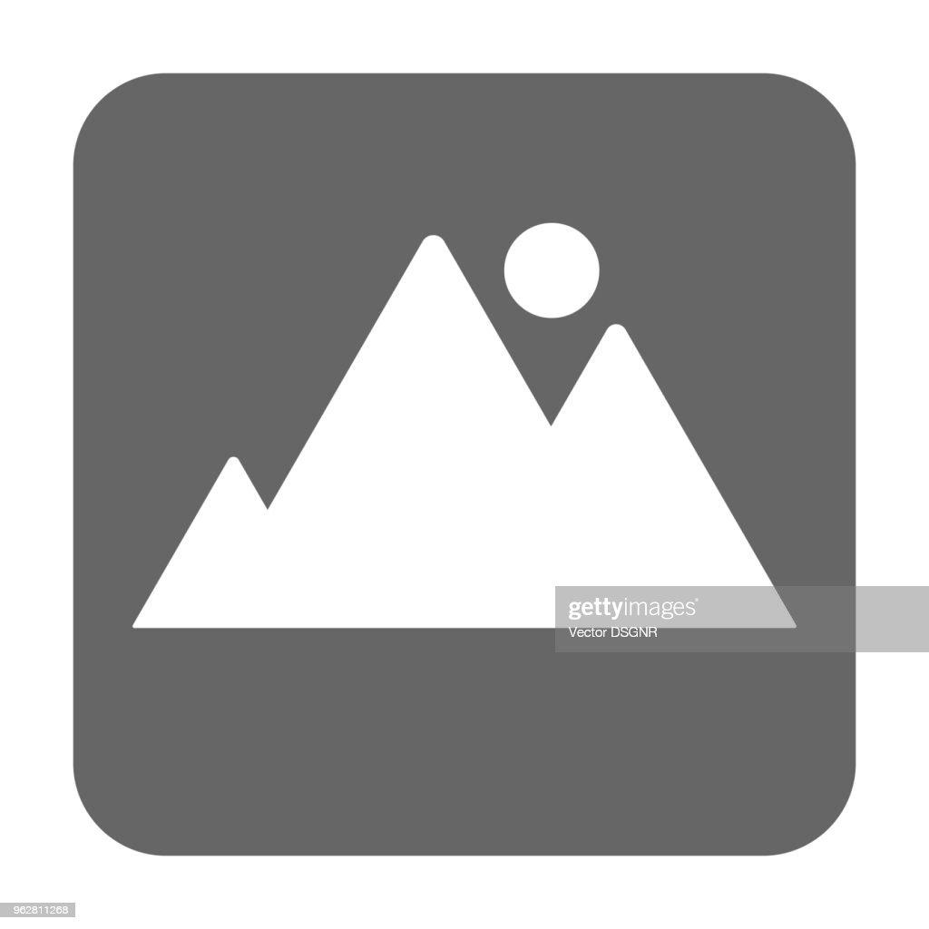 Picture icon. Photo album square button. Vector