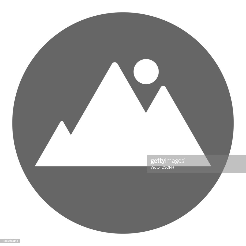 Picture icon. Snapshot button. Vector