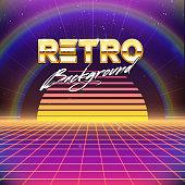 Picture of 80s Retro Futurism background