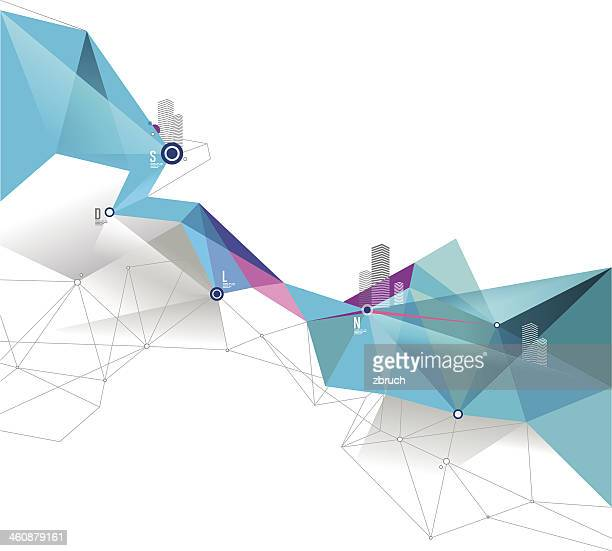 a picture of a blue and white abstract background - road intersection stock illustrations